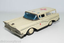 TINPLATE BLECH JAPAN FORD STATION WAGON AMBULANCE EXCELLENT CONDITION
