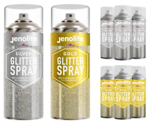 Jenolite Glitter Spray in a Clear Sealant – 400ml (Perfect for arts & crafts)