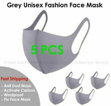 ( Pack of 5 ) Gray Face Mask Fashion Face Mask Washable Reusable Unisex Adult