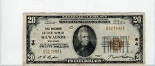 Series 1929 Twenty Dollars $20 First Wisconsin Milwaukee WI National Currency