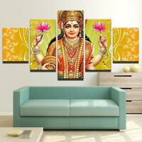 Lord Shiva Hindu God And Jasmine Flower 5 Panel Canvas Print Wall Art Home Decor