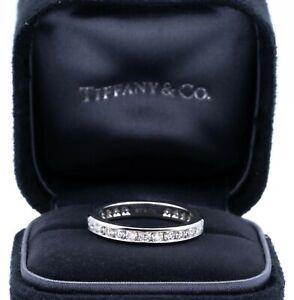Tiffany & Co Platinum Full Circle 3mm Diamond Eternity Band 1.00 Cts Ttl SZ 7.5