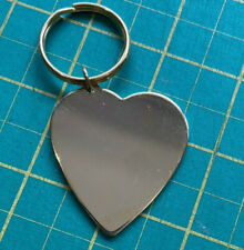 More details for heart keyring x 217 units for photo engraving end of line sale
