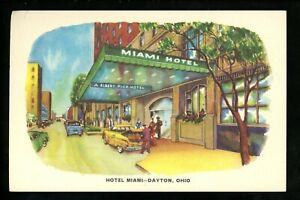 Ohio OH postcard Dayton Hotel Miami Linen