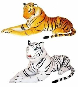 Large Giant Tiger Teddy Leopard Wild Animal Soft Plush Stuffed Toy up to 120 cm