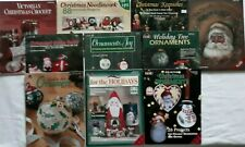 (10) CHRISTMAS BOOKS - Plaid Enterprises - Lots of  Holiday & Decorating Ideas!