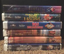 New Sealed Lot 6 Disney VHS Tapes, Black Diamond, Masterpiece, Etc...