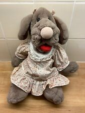 VINTAGE 1981 COLLECTABLE GANZBROS GIRL DOG WRINKLE PUPPET 16''