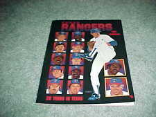 1991 Texas Rangers Baseball Yearbook Nolan Ryan Cover