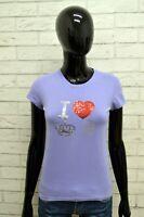 Maglia Donna GAUDI Taglia Size S Polo Shirt Woman Maglietta Manica Corta Payet