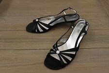 David Tate Rosette Evening Shoes - Women's Size 13 W, Black
