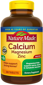 Nature Made Calcium, Magnesium Oxide, Zinc with Vitamin D3 helps support Bone