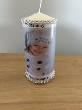 Large Personalised Photo  Candle Gift Anniversary Baby Present Wedding Her