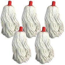 """(PACK OF 5) 16oz Mop head with push fit red plastic socket fits 15/16"""" shafts"""