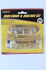 2PC BRASS DOOR SECURITY CHAIN GUARD & DOOR DEAD BOLT LOCK