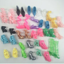 Beautiful Barbie Doll Shoes Xmas Birthday Christmas Gift Nwe Lot 20 Pairs PS