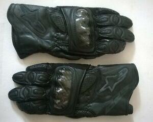 ALPINESTARS SP2 Leather Motorcycle Carbon Gloves Bike Motor Sports Black  Suzuki