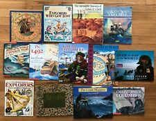 Lot 13 EXPLORERS Themed Children's History books Lewis Clark Marco Polo