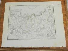 1835 Bradford MAP//NORTHERN ASIA, Russia, Mongolia