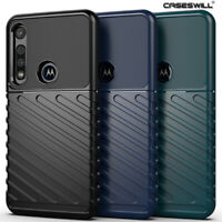 For Motorola One Vision Plus Case Shockproof Armor Flexible TPU Protective Cover