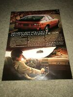 "Vintage 1978 PORSCHE 924 Car Print Ad 1970s RED ""NOTHING EVEN COMES CLOSE"" RARE"