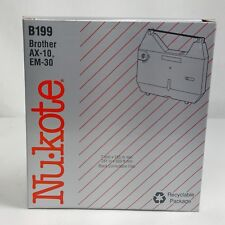 Nukote B199 Black Typewriter Correctable Film Brother AX-10 EM-30 Panasonic
