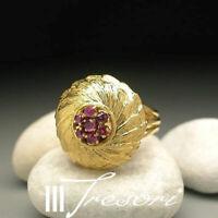 0,35 KARAT RUBIN RING 750 ITALY Gr.58 GOLD BLUME FLOWER JUWELIER **1.950€