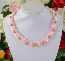 Handgefertigte Modeschmuck-Halsketten & -Anhänger im Collier-Stil mit Perlen