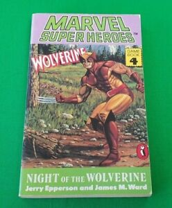 Night of the Wolverine ***MINT 1st EDITION!!*** Marvel Super Heroes Gamebook 4