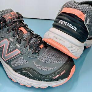 NEW BALANCE 510v4 Women's 9 Trail Running Hiking All Terrain Shoes Gray WT510LS4