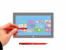Red Stylus & Pen for Microsoft Surface Pro, Surface Pro 2 w/ Rubber Soft Tip