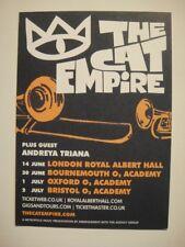 THE CAT EMPIRE - A6 POSTCARD SIZE FLYER - UK TOUR 2014