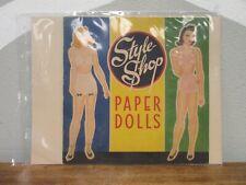 Saalfield 1943 Style Shop Paper Dolls Book Vtg 1940s No.115 Uncut Usa