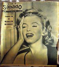 """MARILYN MONROE:VINTAGE SPANISH MAGAZINE UNIQUE COVER-""""SABADO GRAFICO"""" 1962-SEE!!"""