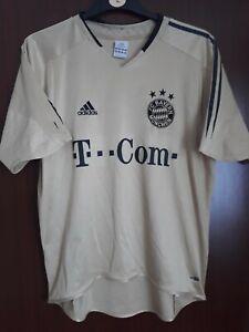 Official Bayern Munich Gold Away Football Shirt 2004-2005 Size M World Post!