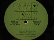 Westwood One Star Trak LP Smokey Robinson/Bowser/Peter Yarrow  W/Cue Sheet