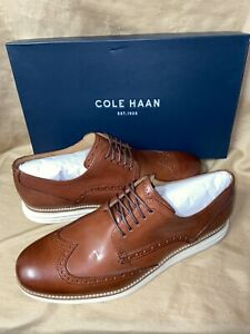 New!  COLE HAAN Mens Size 10 Grand Shortwing Brown Oxford lace-up Shoes