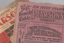 2 x PEARSON'S WEEKLY Journals 12 November 1932 & 5 December 1936 RARE