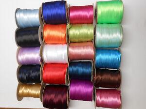 Schrägband Satin 10 Meter, Breite 16 mm, gefalzt verschiedene Farben