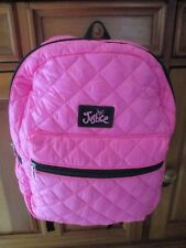 NWT~HTF- Girls JUSTICE Hot Pink Quilted Backpack-School!