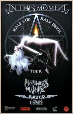 IN THIS MOMENT | MOTIONLESS IN WHITE Half God Devil 2017 Ltd Ed RARE Tour Poster