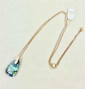Kendra Scott Maeve Abalone Rose Gold Long Necklace