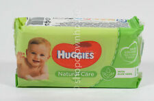 Huggies Baby Wipes NATURAL CARE Aloe Vera 56 wipes in Resealable Pack