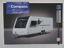Compass Touring Caravan Sales Brochure 2015- Corona, Rallye -Spec.Layouts,Option