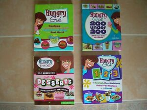 4 HUNGRY GIRL CookBook Lot by Lisa Lillien Guilt Free Recipes under 200 calories