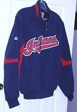 vintage Cleveland Indians Majestic Baseball on field Jacket Coat Size M MLB