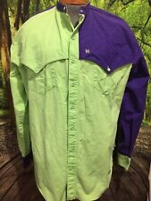 The Look Vtg 90's Western Cowboy Shirt Size Mens XL Rodeo