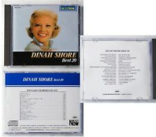 DINAH SHORE Best 20 .. Japan Capitol CD No Barcode