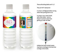 10 Rainbow Birthday Party Favors Personalized Water Bottle Labels