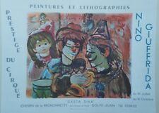 """PRESTIGE DU CIRQUE par Nino GIUFFRIDA 1973"" Affiche originale entoilée 69x54cm"